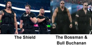 The Shield are one of the best things going in WWE right now. Why they dress like an attitude era Bossman is beyond me though.