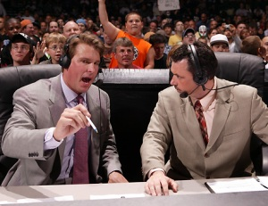 JBL with Michael Cole at the announce table (pic courtesy of 203prowrestlingreview.blogspot.com)