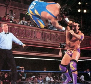 The 1-2-3 Kid is thrown across the ring by Ramon (pic courtesy of Photobucket.com)