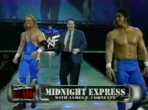 Bombastic Bob Holly and Bodacious Bart Gunn, the New Midnight Express, sort of summed up the whole angle (image courtesy of wfigs.proboards.com)