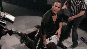 11 unprotected chair shots and a screwy finish. As great as the match was, The Rock vs Mankind at the '99 Royal Rumble displayed the negative side of The Attitude Era too. Image courtesy of WWE. Com