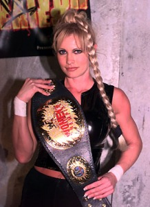 Sable as WWE Women's Champion, a fact Jerry Lawler probably never acknowledged