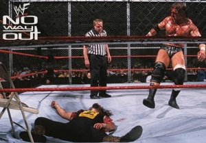 The main event of No Way Out 2000 was brilliant, and a fitting end to a great career. What a shame it was rendered pointless a few weeks later.