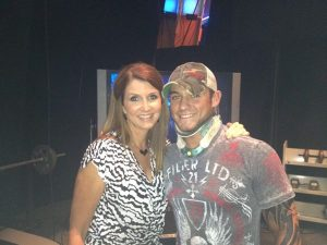 Jesse Sorensen with Dixie Carter backstage at Impact (Image courtesy of www.bloggen.be)