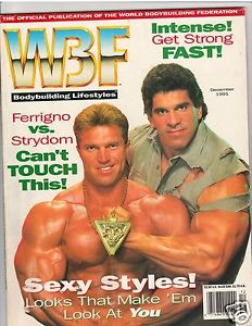 Cover of the WBF magazine, note the font and colouring used for the title (Image courtesy of www.ebay.com)