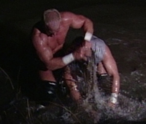 Yes, they are fighting in the Mississippi River (Image courtesy of www.wwe.de)