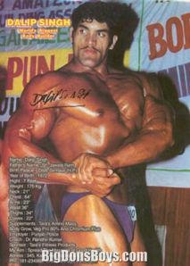 A young Great Khali in his bodybuilding days