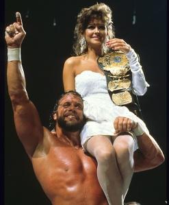 Randy-Savage-and-Miss-Elizabeth-celebrate-at-Wrestlemania-IV