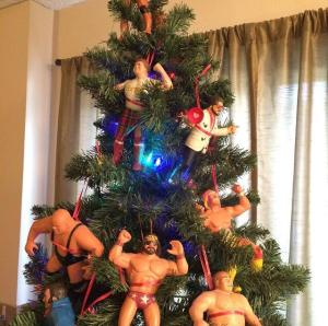 Wrestling Christmas Tree