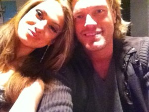 Edge hanging out with Reby Sky