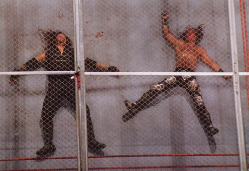 Image result for shawn michaels vs undertaker hell in a cell