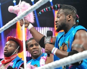 Kofi Kingston! And we thought Xavier Woods' Survivor Series 'do was good