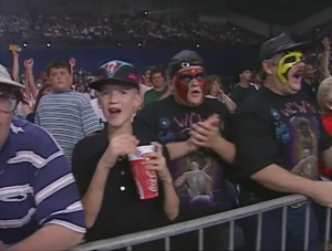 Could this be the third man? Why else would JR be at a WCW show disguised as Sting?