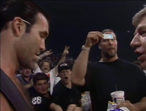 I know Kevin Nash is big, but how small is that ticket?!