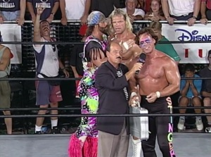 """""""Hey Lex, why is Sting still holding my briefcase?"""""""