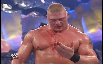 Brock Lesnar Hulk Hogan Blood