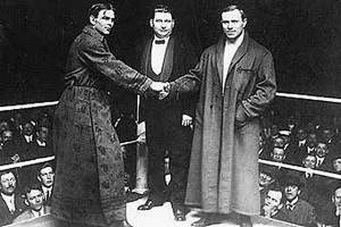 Frank Gotch and George Hackenschmidt
