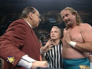 A sober Jake Roberts pretending to be sober while pretending to be drunk