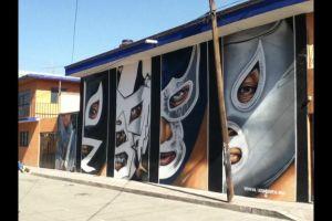 wrestling-mural