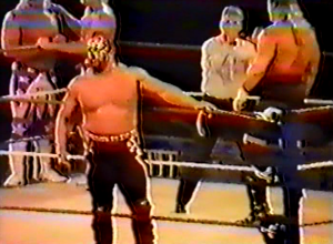 Crush (talking to the ref); member of Demolition and The Road Warriors